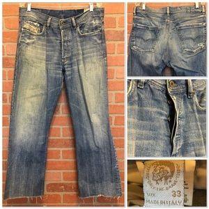 Diesel men's jeans KURATT 33 x 29 raw hem (4R55)
